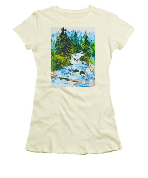 Spring Run-off Women's T-Shirt (Athletic Fit)