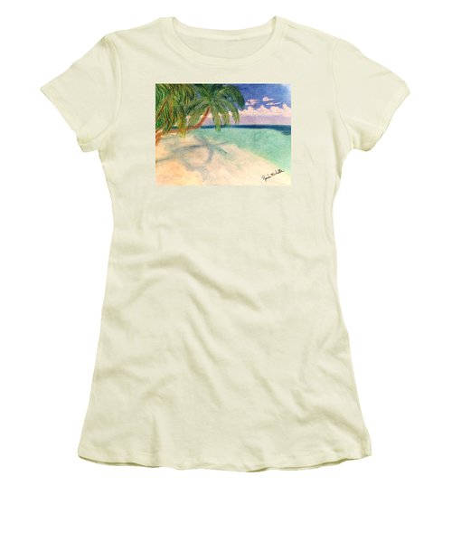Tropical Shores Women's T-Shirt (Athletic Fit)