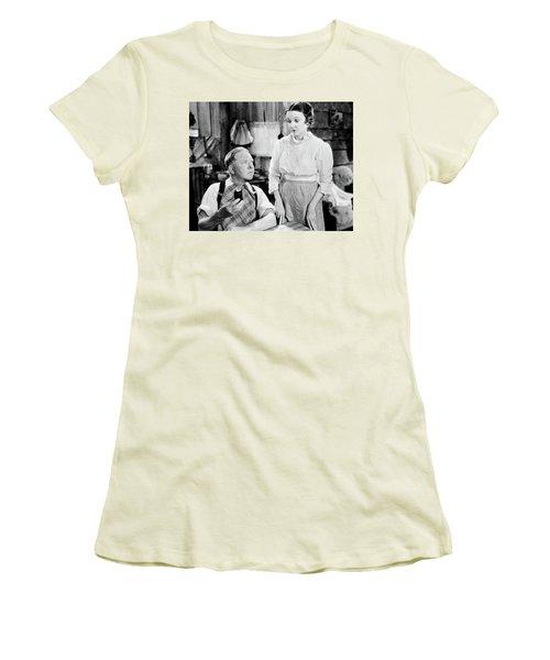 Women's T-Shirt (Junior Cut) featuring the photograph W.c. Fields by Granger