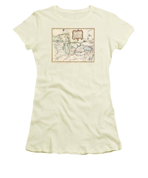 1755 Bellin Map Of The Great Lakes Women's T-Shirt (Athletic Fit)