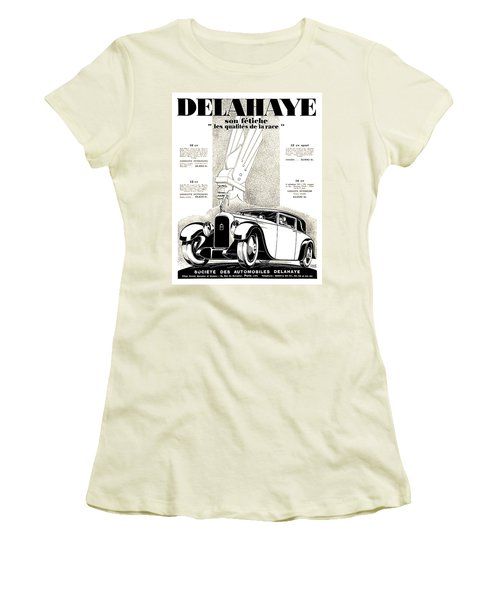 1928 - Delehaye Automobile Advertisement Women's T-Shirt (Athletic Fit)