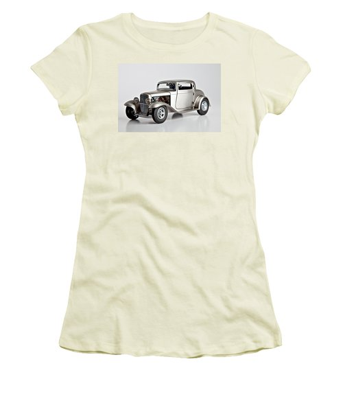 Women's T-Shirt (Junior Cut) featuring the photograph 1932 Ford 3 Window Coupe by Gianfranco Weiss