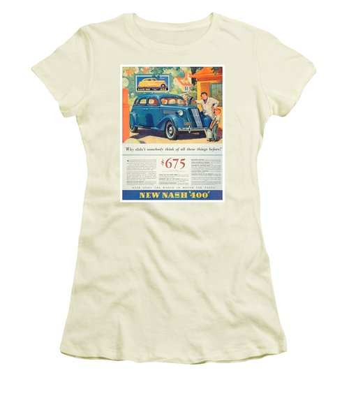 1936 - Nash Sedan Automobile Advertisement - Color Women's T-Shirt (Athletic Fit)