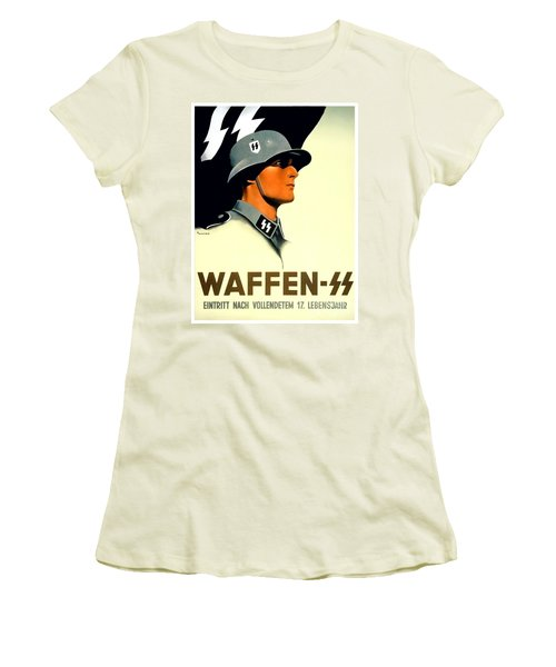 1941 - German Waffen Ss Recruitment Poster - Nazi - Color Women's T-Shirt (Athletic Fit)