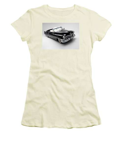 Women's T-Shirt (Junior Cut) featuring the photograph 1950 Cadillac Convertible by Gianfranco Weiss