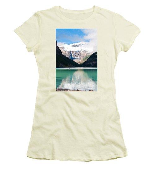 Women's T-Shirt (Junior Cut) featuring the photograph Beautiful Lake Louise by Cheryl Baxter