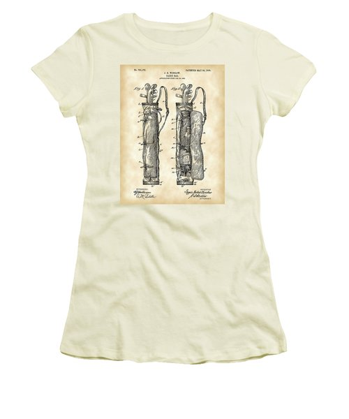 Golf Bag Patent 1905 - Vintage Women's T-Shirt (Athletic Fit)