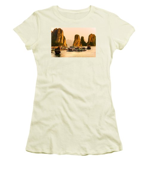 Halong Bay - Vietnam Women's T-Shirt (Junior Cut) by Luciano Mortula