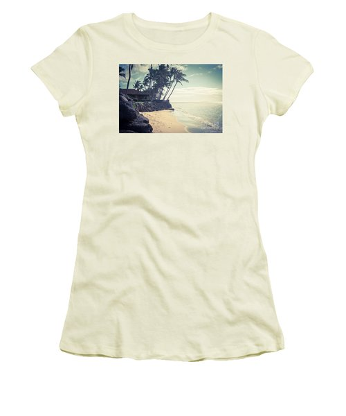 Women's T-Shirt (Athletic Fit) featuring the photograph Kihei Maui Hawaii by Sharon Mau