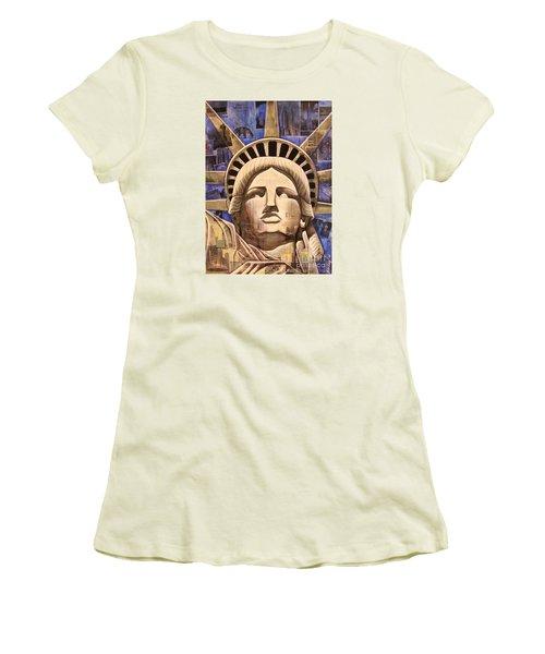 Lady Liberty Women's T-Shirt (Junior Cut) by Joseph Sonday