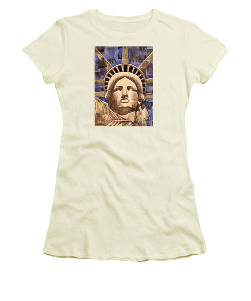 Lady Liberty Women's T-Shirt (Athletic Fit)