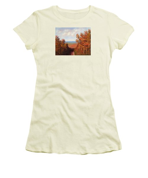Mountain View Women's T-Shirt (Junior Cut) by Jason Williamson