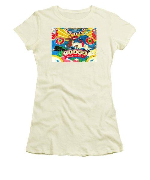 Native Pinball Women's T-Shirt (Junior Cut) by Beth Saffer