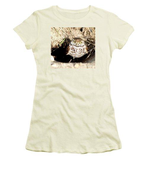 Owl Women's T-Shirt (Junior Cut) by Oksana Semenchenko