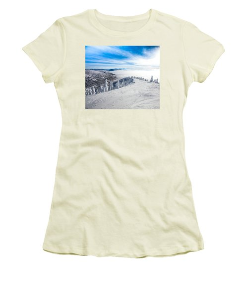 Ridgeline Women's T-Shirt (Junior Cut) by Aaron Aldrich