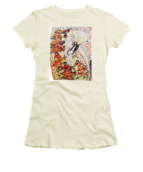 The Five Wise Virgins Women's T-Shirt (Junior Cut) by Gloria Ssali