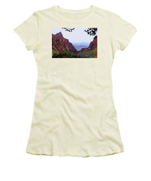 The Window Women's T-Shirt (Junior Cut) by Dave Files