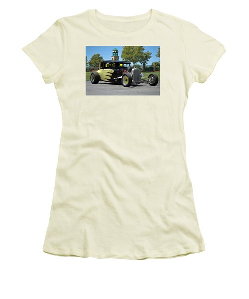 1930 Ford Coupe Hot Rod Women's T-Shirt (Junior Cut) by Tim McCullough
