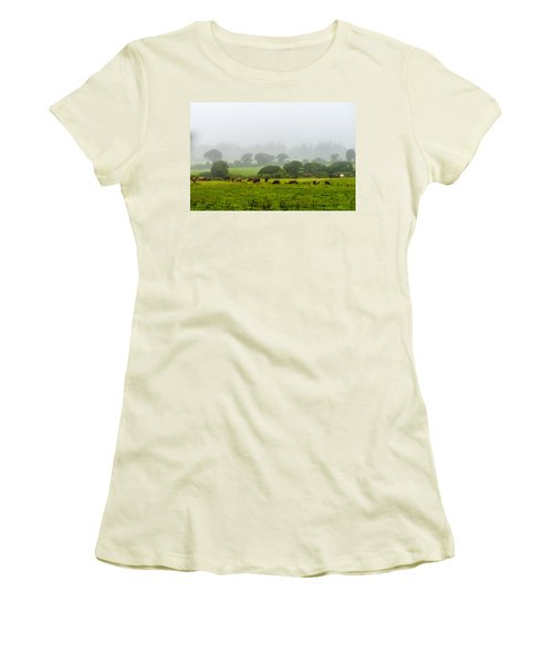 Cows At Rest Women's T-Shirt (Athletic Fit)