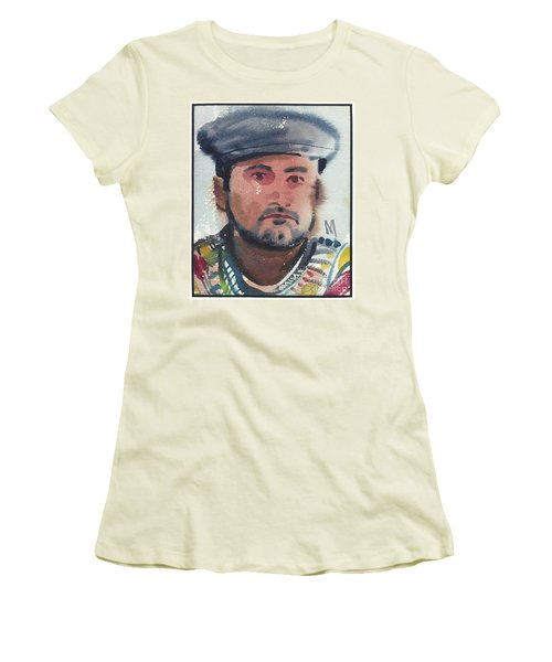 Women's T-Shirt (Junior Cut) featuring the painting Emilio by Donald Maier