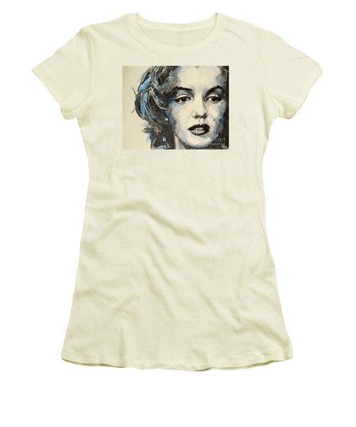 Marilyn Women's T-Shirt (Junior Cut) by Paul Lovering