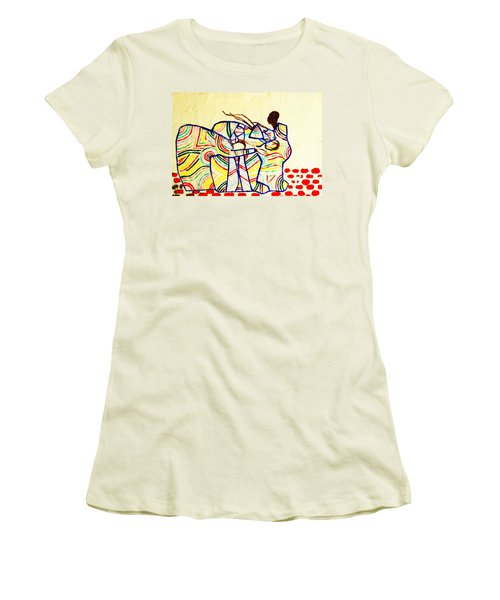 The Holy Family Women's T-Shirt (Junior Cut) by Gloria Ssali