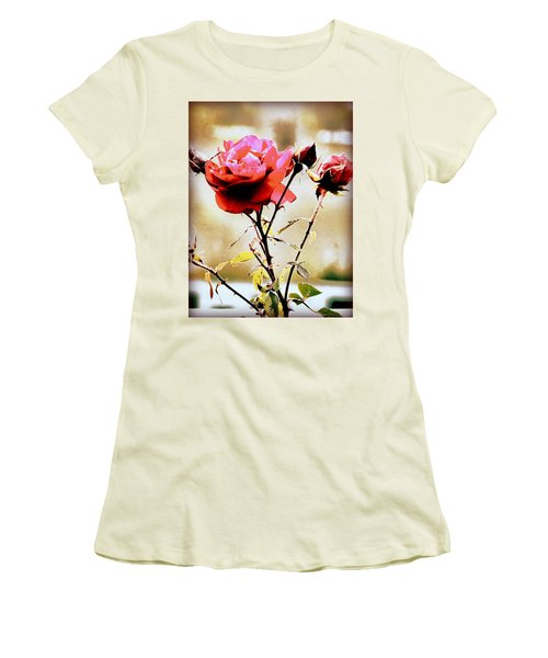 Women's T-Shirt (Junior Cut) featuring the photograph 40 Something by Faith Williams