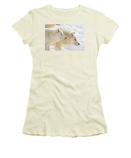 Arctic Wolves Women's T-Shirt (Athletic Fit)