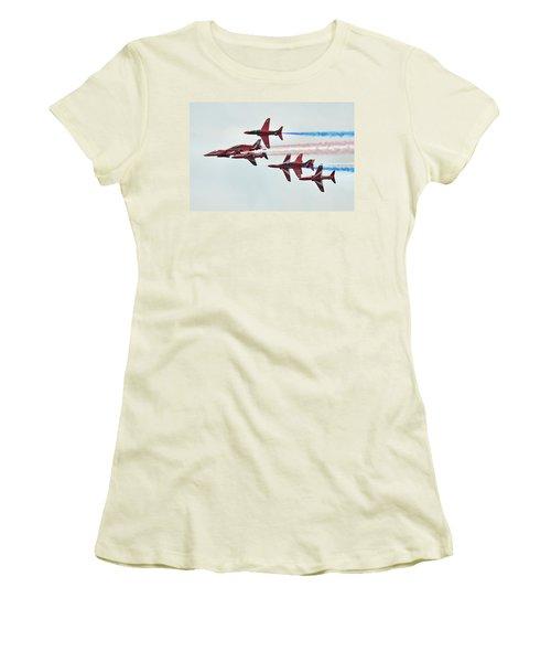 50th Anniversary 'red Arrows' Women's T-Shirt (Junior Cut) by Tim Beach
