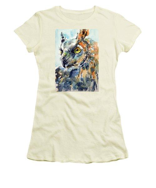 Owl Women's T-Shirt (Junior Cut)