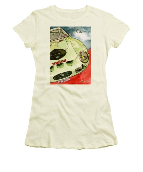 62 Ferrari 250 Gto Signed By Sir Stirling Moss Women's T-Shirt (Junior Cut) by Anna Ruzsan