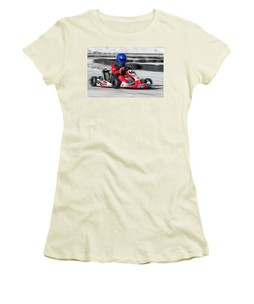 Racing Go Kart Women's T-Shirt (Athletic Fit)