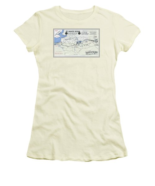 89th Infantry Division World War I I Map Women's T-Shirt (Athletic Fit)