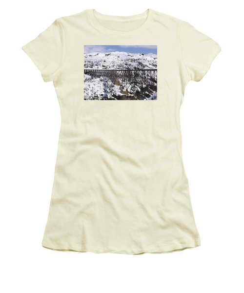 A Bridge In Alaska Women's T-Shirt (Athletic Fit)