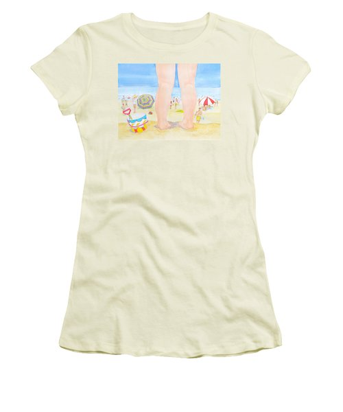 A Child Remembers The Beach Women's T-Shirt (Athletic Fit)