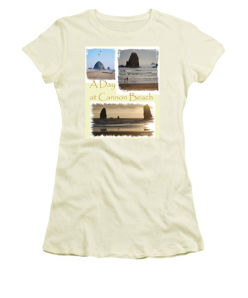 A Day On Cannon Beach Women's T-Shirt (Athletic Fit)