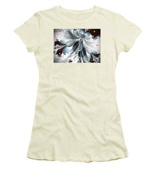 A Deeper Reflection Abstract Art Prints Women's T-Shirt (Junior Cut) by Valerie Garner