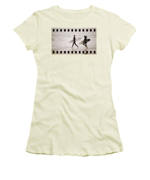 Women's T-Shirt (Junior Cut) featuring the photograph A Good Day To Surf by Alice Gipson
