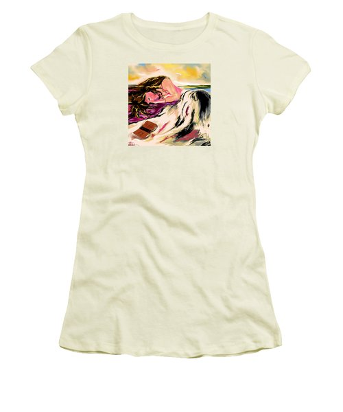 A Love Story  Women's T-Shirt (Junior Cut) by Lori  Lovetere
