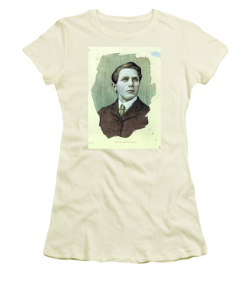 Women's T-Shirt (Junior Cut) featuring the painting A Man Who Used To Be A Dreamer by James W Johnson