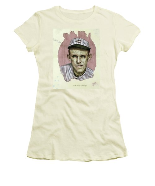 Women's T-Shirt (Junior Cut) featuring the painting A Man Who Used To Be A Player by James W Johnson