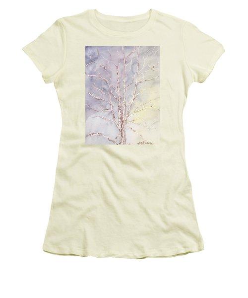 A Tree In Winter Women's T-Shirt (Junior Cut) by Vickie G Buccini