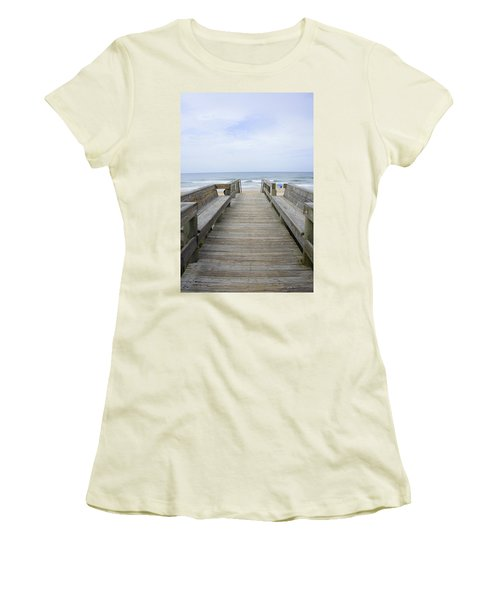 Women's T-Shirt (Junior Cut) featuring the photograph A Welcoming View by Laurie Perry