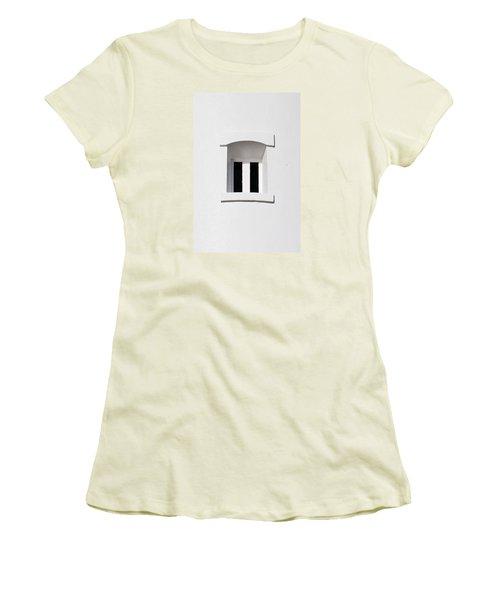 A Window In White Women's T-Shirt (Junior Cut) by Wendy Wilton