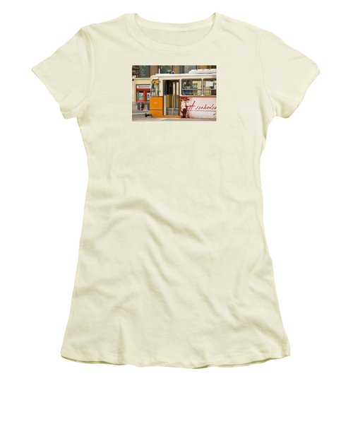 A Yellow Tram On The Streets Of Budapest Hungary Women's T-Shirt (Athletic Fit)
