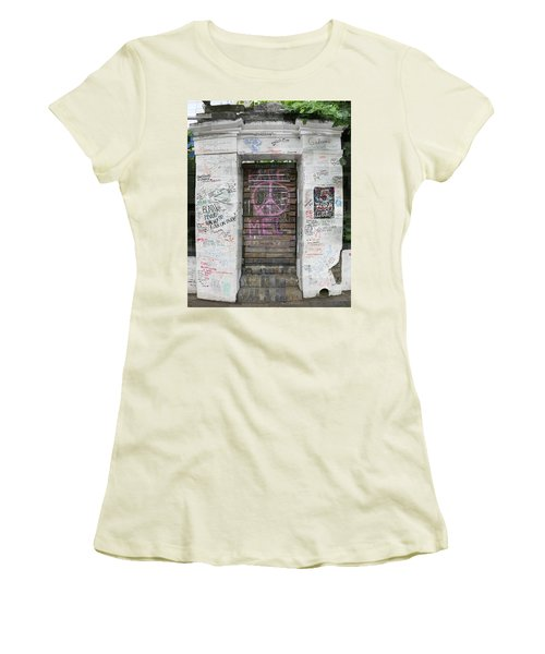 Abbey Road Graffiti Women's T-Shirt (Athletic Fit)