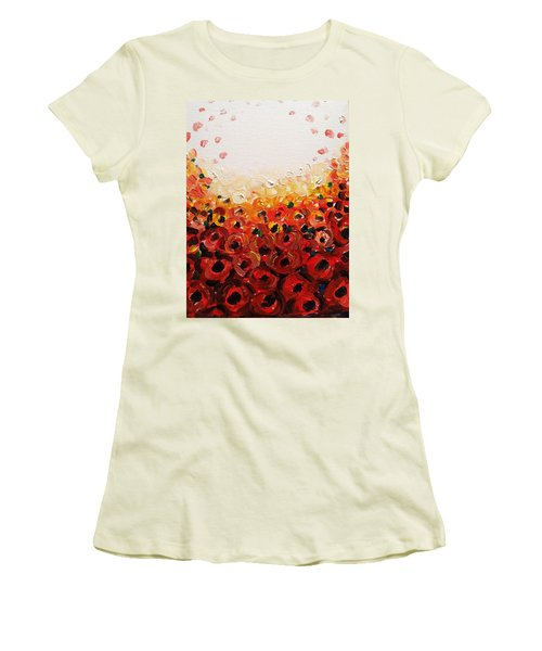 Abstract Poppies 2 Women's T-Shirt (Athletic Fit)