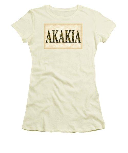 Acacia - Parchment Women's T-Shirt (Junior Cut) by Stephen Younts