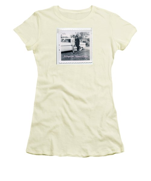 Adoption Saves Lives Women's T-Shirt (Athletic Fit)