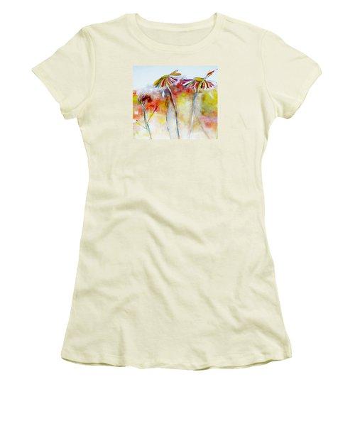 African Daisy Abstract Women's T-Shirt (Junior Cut) by Lisa Kaiser